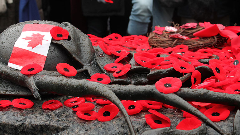 Remembrance Day commemorates Canadians who died in the First and Second World Wars and the Korean War. In Canada, Remembrance Day is a public holiday and federal statutory holiday, as well as a statutory holiday in all three territories and in six of the ten provinces (Nova Scotia, Manitoba,...