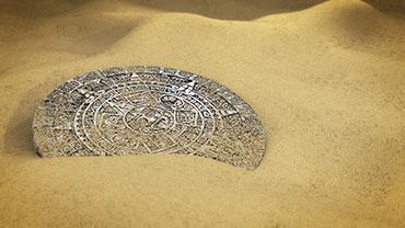 Aztec Calendar Stone Excavation