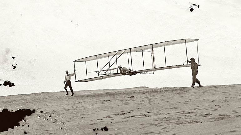 On Dec. 17, 1903, Wilbur and Orville Wright successfully flew the first powered flying machine in Kitty Hawk, N.C. Even though the flight lasted for only 12 seconds and 120 feet. On the fourth and final flight of the day, Wilbur traveled 852 feet, remaining airborne for 59 seconds. That morning,...