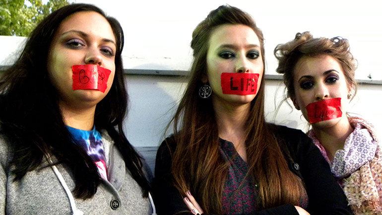 The Day of Silence is the Gay, Lesbian and Straight Education Network's (GLSEN) annual day of action to protest the bullying and harassment of lesbian, gay, bisexual, and transgender (LGBT) students and their supporters. Students take a day-long vow of silence to symbolically represent the...