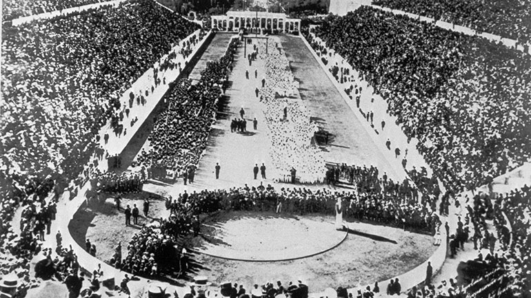 On April 6, 1896, the first modern Olympic Games are held in Athens, Greece, with athletes from 14 countries participating. 