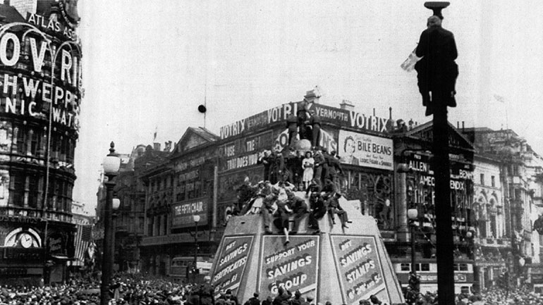 Victory in Europe Day, generally known as  V-E Day or VE Day , was the public holiday celebrated on 8 May 1945 (7 May in Commonwealth realms) to mark the formal acceptance by the Allies of World War II of Nazi Germany's unconditional surrender of its armed forces. It thus marked the end of...