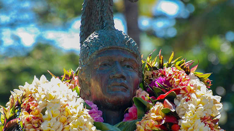 Kamehameha Day on June 11 is a public holiday of the state of Hawaii in the United States. It honors Kamehameha the Great, the monarch who first established the unified Kingdom of Hawai'i — comprising the Hawaiian Islands of Ni'ihau, Kaua'i, O'ahu, Moloka'i,...