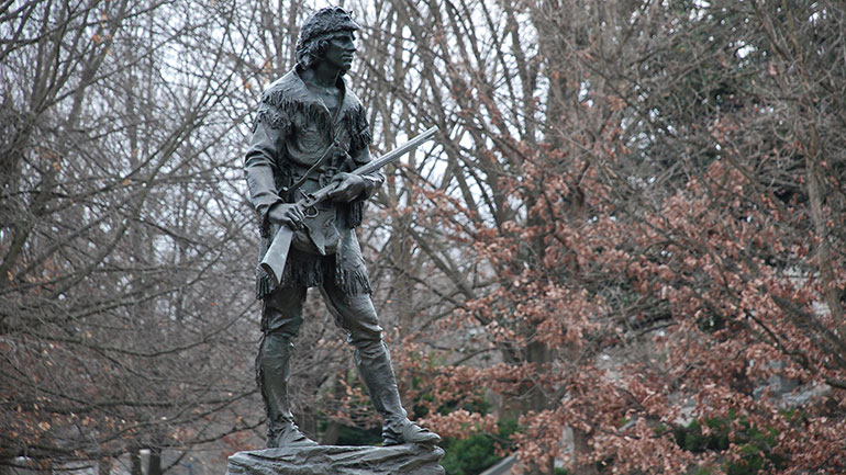 On June 7, 1769, frontiersman Daniel Boone first saw the forests and valleys of present-day Kentucky.  Daniel Boone (November 2, 1734 – September 26, 1820) was an American pioneer, explorer, and frontiersman whose frontier exploits made him one of the first folk heroes of the United States....