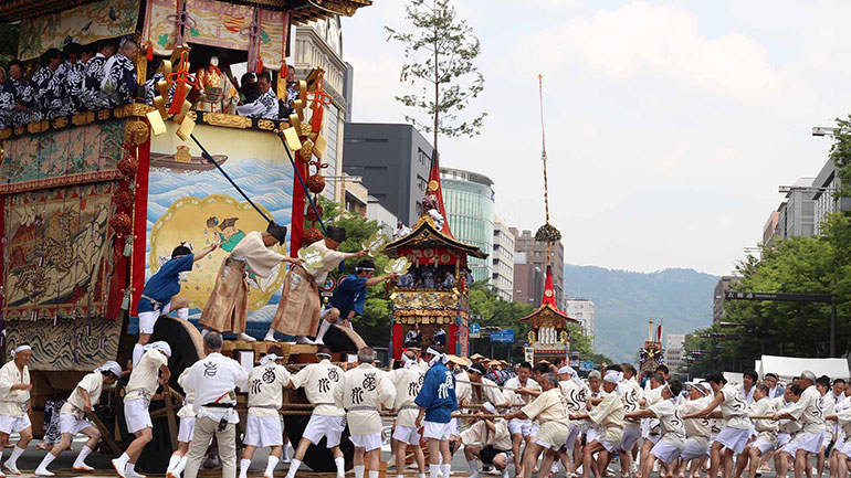 The Gion Festival (Gion Matsuri) takes place annually in Kyoto and is one of the most famous festivals in Japan. It goes for the entire month of July and is crowned by a parade, the Yamaboko Junko on July 17 and July 24. It takes its name from Kyoto's Gion district. The word Yamaboko refers to...