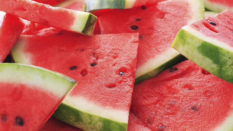 Watermelon is a delicious summer fruit that has become a staple at family picnics and cookouts. Did you know that watermelons are 92% water? No wonder they're so refreshing!  There are around 300 different kinds of watermelon in the U.S. and Mexico. You can find red, pink, white, and yellow...