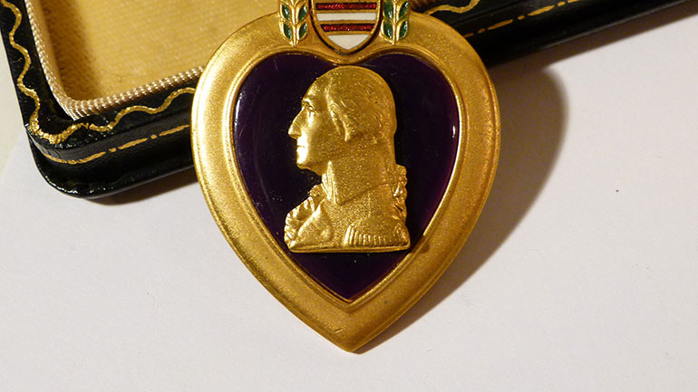 'Let it be known that he who wears the military order of the purple heart has given of his blood in the defense of his homeland and shall forever be revered by his fellow countrymen.' - George Washington, August 7, 1782  The Purple Heart is a decoration awarded in the name of the President to...