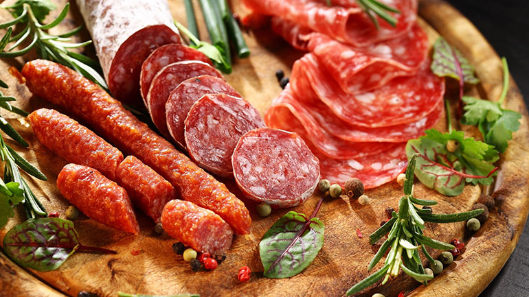 Salami is cured sausage that has been fermented and air-dried. Countries like Italy, France, Hungary, Germany, and Spain each produce their own style of salami. The varieties differ in the coarseness or fineness of the chopped meat as well as the size and style of the casing.  Although the...