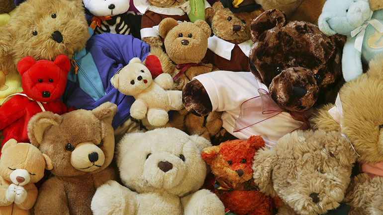 A Teddy Bear is a special friend to children all over the world. He's cuddly. He makes you feel secure in an otherwise insecure world. He's lovable. Your Teddy Bear is both a companion and a comforter. And, he's not afraid of the dark. He'll keep you safe. No child should grow up without a teddy...
