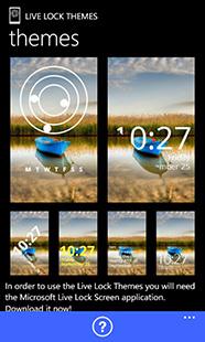 Live Lock Themes main screen