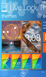 Live Lock Themes main screen