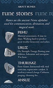 Rune Reading detail page